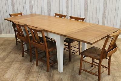 Large Oak Extending Country Farmhouse Dining Table 8Ft Other Sizes Available