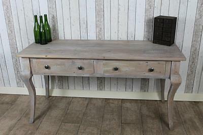 French Style Reclaimed Pine Limed 6Ft Sideboard Side Console Table The Florence