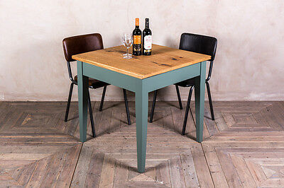 Restaurant Oak Top Cafe Table With Painted Pine Base In Any Farrow & Ball