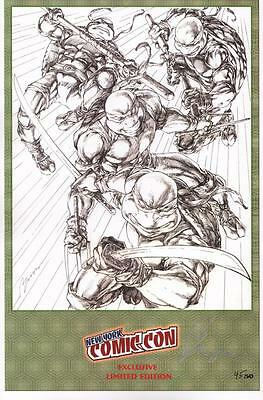 Buzz SIGNED Art Print ~ Teenage Mutant Ninja Turtles NYCC LE Exclusive #47/50