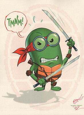 Michael Dooney SIGNED Despicable Me Minion Teenage Mutant Ninja Turtle Art Print