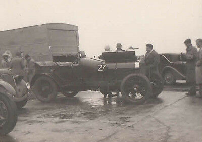 PRE-WAR FIAT RACING CAR No.27 IN PADDOCK PHOTOGRAPH.