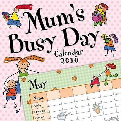 Mum's Busy Day Family Organiser (Five Columns)  Calendar 2018