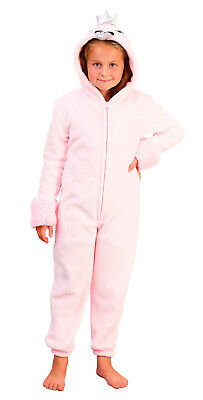 Girls Novelty Onezee Dress Up All In One Fleece Animal Character Pjs Kids