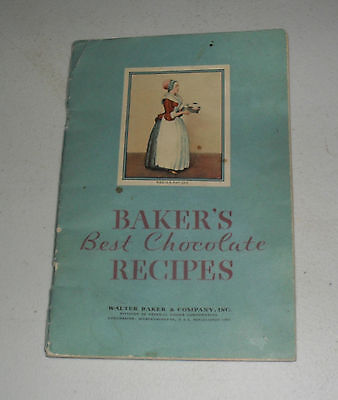 1932 Baker's Best Chocolate Recipe Booklet 60 Pages  Lqqk #chocolate