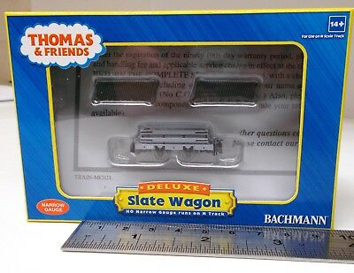 Bachmann US (Thomas) 77303 - Narrow Gauge Slate Wagon w/Load - New. (009)