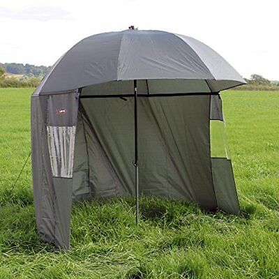 Ultra Fishing Tackle Angling 2.2M 86 Inch Umbrella W/ Zip Sides Sea/carp Brolly