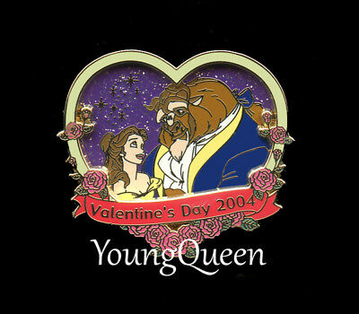 Japan Disney Beauty & the Beast Belle Valentine's Day 2004 Glow in Dark Le Pin