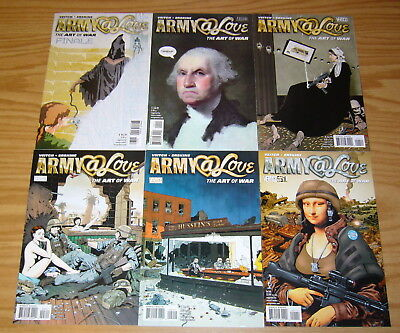 Army@Love: the Art of War #1-6 VF/NM complete series - rick veitch set lot