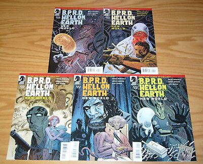 BPRD: Hell On Earth - New World #1-5 VF/NM complete series  mike mignola hellboy