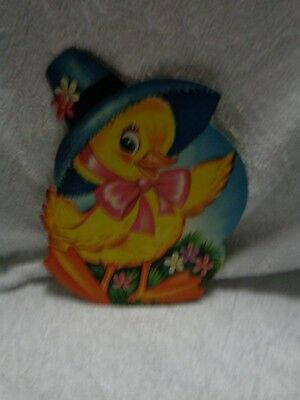Paper Chick Wearing Hat Waving Right Wing Paper Decoration