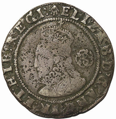 Elizabeth I 1586/5 Overdate Great Britain Silver Sixpence S.2578a