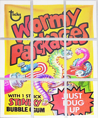 -Rare- 1973 -Wacky Packages- 4th Series/Series 4 Topps Checklist/Puzzle Card Set
