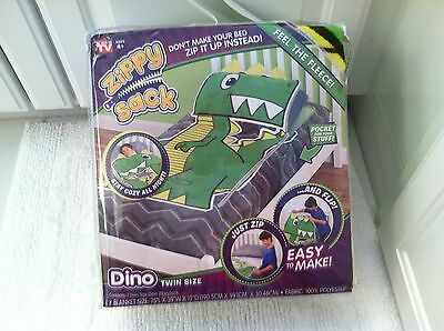 Zippy Sack DINO As Seen On TV Twin Size Stay Cozy All Night!