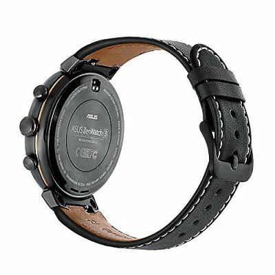 Kartice for ASUS ZenWatch 3 Band,Vintage Genuine Leather Smart Watch Band Strap