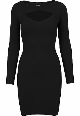 Urban Classics Ladies Cut Out Dress Streetwear Vestito Gonna Donna
