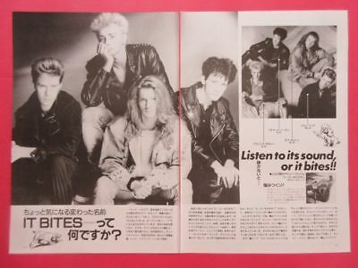 It Bites Francis Dunnery John Beck 1987 CLIPPING JAPAN MAGAZINE K3 E8 2PAGE