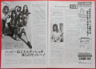 KEEL in JAPAN 1987 CLIPPING JAPAN MAGAZINE CUTTING K3 D7 2PAGE