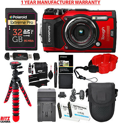 """Olympus TG-5 Waterproof Camera with 3"""" LCD Red + INCLUDING MANUFACTURER WARRANTY"""