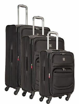 Delsey Luggage D-Lite 3 Piece Exp. Nested Spinner Luggage Set