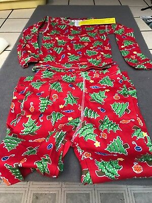 New With Tags At Home Christmas Trees Child's  2 Piece Pajamas Size 6