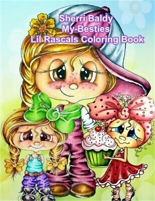 Signed Coloring Book Sherri Baldy My Besties Lil Rascals 995