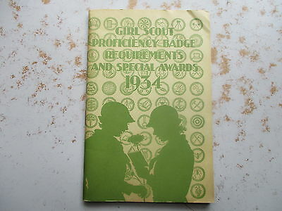 Girl Scout Proficiency Badge Requirements and Special Awards For 1934 - Booklet
