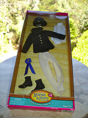 """Only Hearts Horse & Pony Club Black English Riding OUTFIT For 9"""" doll - New"""
