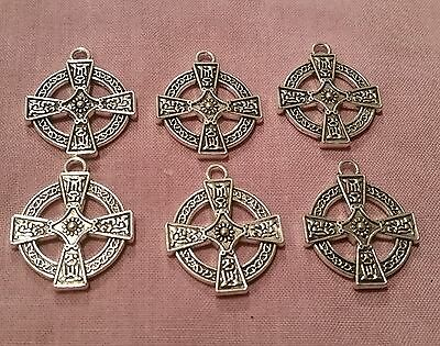 Wow - Bargain New Bulk Lot - 6 X Silver Plated Antique Style Crosses
