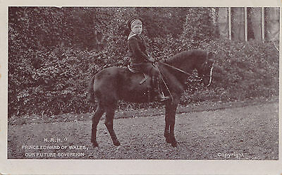 PRINCE EDWARD OF WALES Our Future Sovereign on Pony 1904-13 GD & D L Postcard