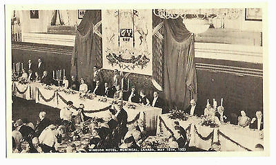 King George VI Queen Elizabeth Windsor Hotel Banquet MONTREAL QC Canada 1939 PC2