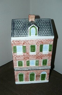 Collectible Ceramic Cookie Jar House Shaped 3 Story Brick Circa 1845 Lagniappe