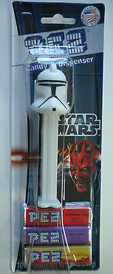 PEZ CLONE TROOPER Candy Dispenser New On Star Wars Card