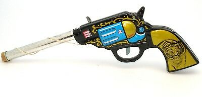 Toy Tinplate Cowboy Pop Gun - Old Unsold Shop Stock From 1958!