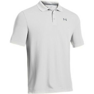 Under Armour 1242755 Men's White UA Performance Polo Shirt - Size Large