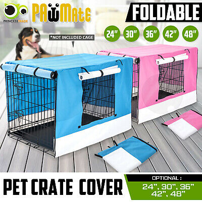 "Pet Dog Puppy Cage Collapsible Cover Crate Kennel Cat Rabbit 24"" 30"" 36"" 42"" 48"""
