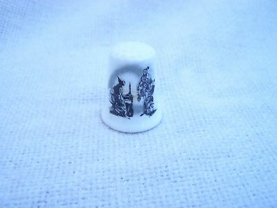 CHARLES DICKENS A CHRISTMAS XMAS CAROL on FINE BONE CHINA THIMBLE