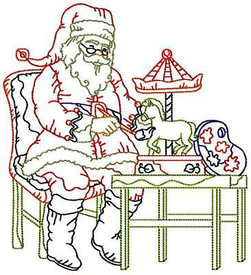 Christmas Colour Line Set 1 And 2  20 Machine Embroidery Designs Cd 3 Sizes