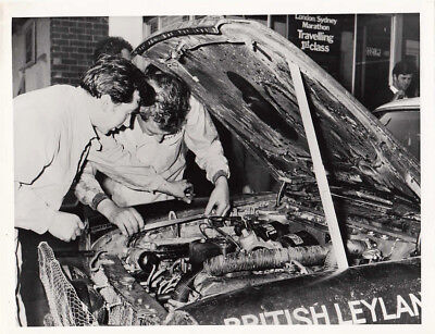 Austin 1800 Saloon Rally Car Engine Compartment Photograph.