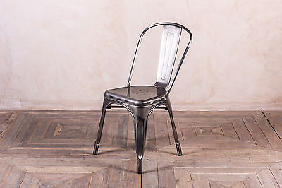 Gun Metal Vintage Industrial Tolix Style Chairs Large Quantity Available
