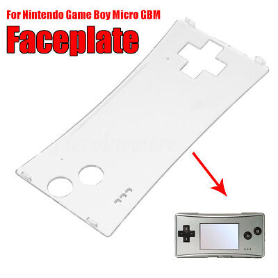 Transparet Front Faceplate Case Cover Replace For Nintendo GameBoy Micro GBM