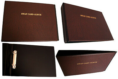 New Swap Playing Card Collector ALBUM Hard Cover & Extra 5 Refill Sleeve PAGES