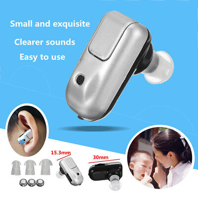 Micro Plus Hearing Aid Sound Amplifier Tone Battery Mini In Ear Aids Adjustable
