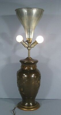 Lamp Bronze Far East / Vase Bronze Polychrome China