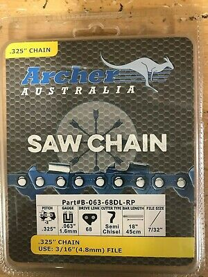 """18"""" .325-063-68DL Ripping Chainsaw Chain replaces Stihl MS250 MS251"""