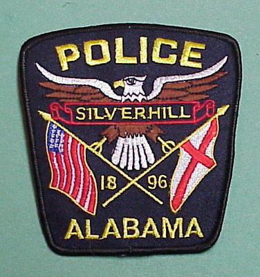 Silverhill  Alabama  1896  Al    Police Patch   Free Shipping!!!