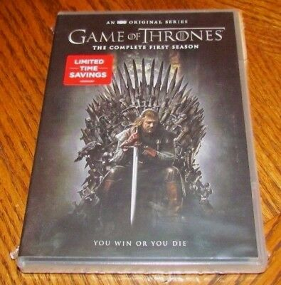 GAME OF THRONES Complete Season 1 DVD 2015 5-Disc Set New HBO Original Series