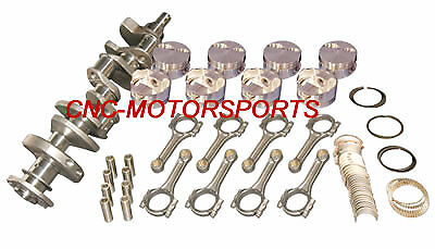 13022 Eagle Rotating Assembly Mahle Flat Top Pistons 6 Rod SB Chevy 350 2 pc