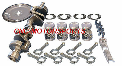13057L Eagle Rotating Assembly Mahle Flat Top Pistons 6 Rod SB Chevy 383 1 pc