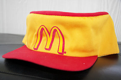 NEW Vintage Style/Old School McDonalds Adjustable Work Hat/Cap Yellow/Red